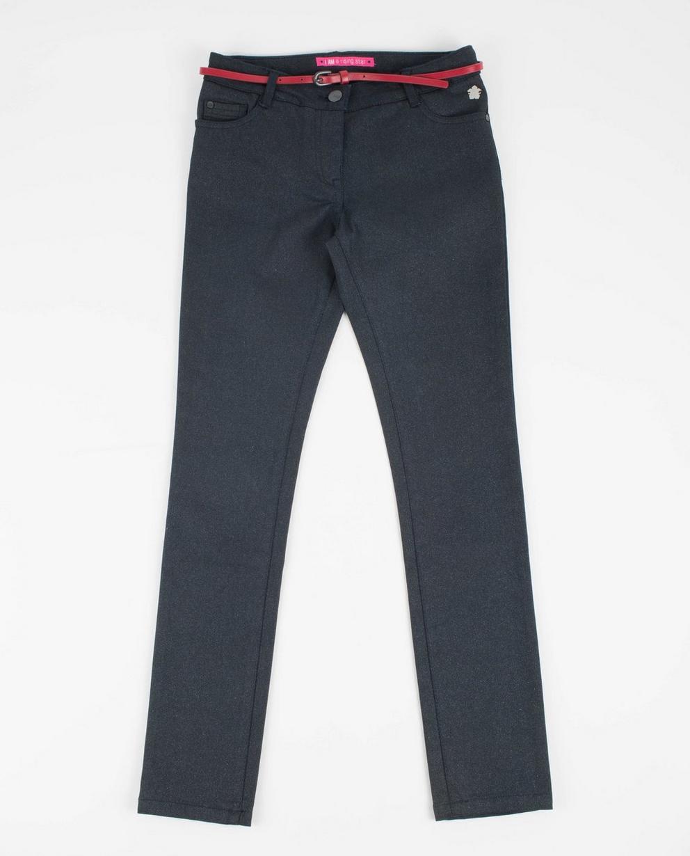 Jeans mit Glitzerprint - Slim fit, I AM - I AM